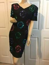 1980's Styleworks Silk Sequin Beaded Party Prom Pageant Dress Size 8~Small