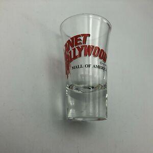 "Rare Mall Of America 1990 Shot Glass 3-1/2"" Tall No Logo Planet Hollywood  Y3"