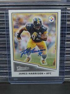 2017 Classics James Harrison Autograph Auto #3/10 Steelers R319