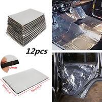 12X Firewall Sound Deadener Car Heat Shield Insulation Deadening Roofs Doors Mat