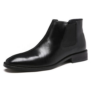 British High Top Comfortable Shoes Fashion Men Pointed Toe Ankle Riding Boot New