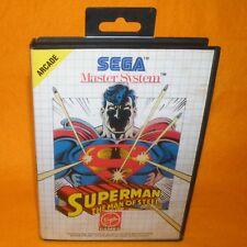 VINTAGE 1993 SEGA MASTER SYSTEM SUPERMAN THE MAN OF STEEL ARCADE VIDEO GAME PAL