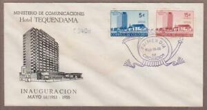 Colombia # 638 & # C273 , Hotel Tequendama & Church FDC - I Combine S/H
