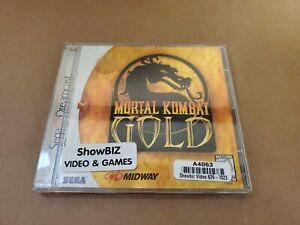 Mortal Kombat Gold Sega Dreamcast 1999 100% Authentic Case Only no disc