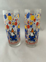 Vintage 1987 BUD LIGHT Spuds Mackenzie Dog Glass Tumblers Set Of 2  12floz