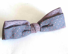 Vintage GRIP TITE Men's Bow Tie Purple with Pink Polka Dots Clip On FREE SH
