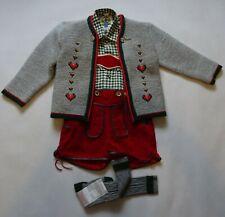 German Austrian  Boys 4 pc. Lederhosen Outfit 5 years
