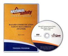 Spanish Hazard Communication Safety Data Sheet Dvd Training Kit