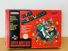 Super Mario World SNES Red Box Version with super Mario all stars included