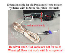 12ft speaker extension cable/wire/cord fits old Panasonic Home Theater;8.2mm-P2P