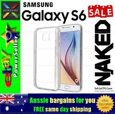Samsung Galaxy S6 S 6 Clear Soft Gel TPU Flexible Clear Fitted Case Cover Skin