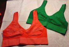 Seamless 2-Pack Ahh Leisure Bra Authentic Rhonda Shear Sz XS - S. NEW