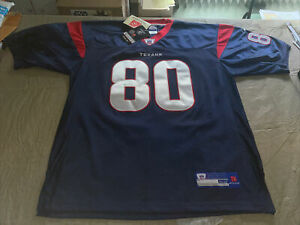 Nwt Adult 52 2x Andre Johnson Houston Texans Blue Authentic NFL Reebok Jersey U