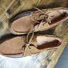 Tommy Bahama Mens 11.5M Boat Shoes Suede Leather Lace Up Loafers TB 340 Cinnabar