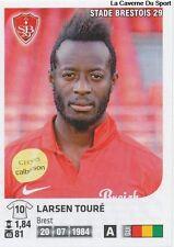 N°095 LARSEN TOURE # GUINEA STADE BRESTOIS STICKER PANINI FOOT 2013