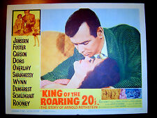David JANSSEN, Dianne FOSTER Lobby Card KING OF THE ROARING 20's (1961) Story of