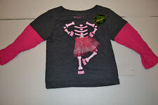 Extreme  Infant Girls Shirt Pink Skull Glow in the Dark Longsleeves  24M NWT