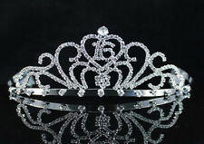 SWEET SIXTEEN 16 BIRTHDAY CLEAR AUSTRIAN RHINESTONE TIARA CROWN HAIR COMB T1404C