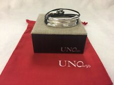 NEW Uno de 50 Not to Be Triple Leather Bracelet Silver PUL0856MARMTL0L Large