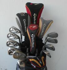 COMPLETE SET MEN'S RH TAYLORMADE GOLF CLUBS DRIVER FWYS HYB IRON SET WEDGES PTR!