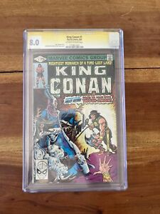 CGC 8.0 King Conan #1 Bronze Age Marvel Comic 1st Issue Signed By Stan Lee !!!