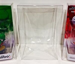 6 Box Protectors For NINTENDO AMIIBO  Original Size Only! Clear Display Cases