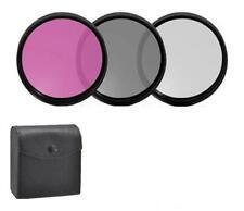 72mm 3PC Filter Set (UV-CPL-FLD) For Photo & Video Camera (Check compatibility)