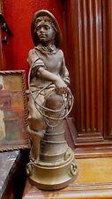 ancien bronze statue jeune marin pecheur mousse signe BOFFIL epoque 1900