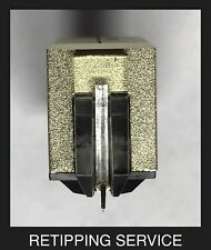 Technics 310MC Moving Coil Cartridge Nude .3x.7 Aluminum Retip Service SL-10