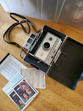 Vintage Polaroid Automatic 350 Land Camera leather strap cold-clip instructions