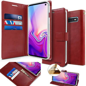 Goospery Slim Leather Stand Flip wallet Case for iPhone XR/Galaxy S10 5G/Note 9