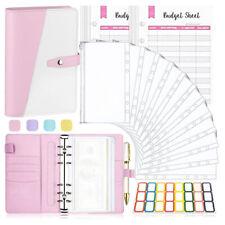 More details for a6 budget binder cash envelopes money saving organizer with zipper pockets