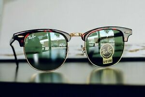 Ray-Ban RB3016 W0366 Clubmaster Sunglasses Tortoise/Gold Frame