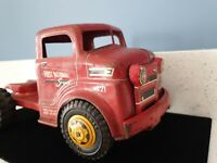 Antique MARX 421 First National Semi Tractor Trailer Truck Steel Toy Vintage