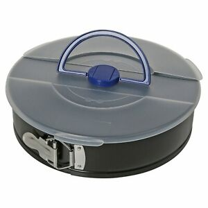 Non Stick Springform Oven Round Cake Tin With Storage Lid Handle Removable Base