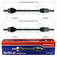 SurTrack Pair Set of 2 Front Cv Axle Shafts For Subaru Forester 2014-2018