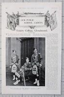 1901 Imprimé École Cadets Trinité Collège Glenalmond Officiers Corps Bande Nommé