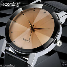 Fashion Luxury Sport Watch Men Casual Quartz Analog Leather Brand WristWatch