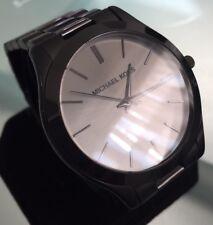 Mens Michael Kors Runaway Designer Watch Slim Black MK8507 Genuine