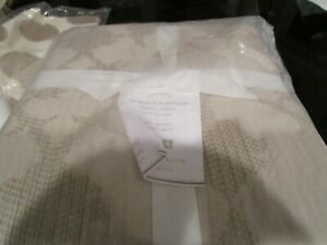 Pottery Barn Jacquard Matelasse full queen taupe  DUVET COVER  New with tags