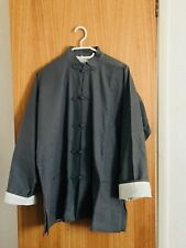 Vintage Grey 100 % Cotton Men's Chinese Style Coat  Size M Brand New
