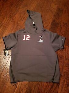 Nike New England Patriots Tom Brady Super Bowl LIII 53 Media Day Hoodie Sz XL