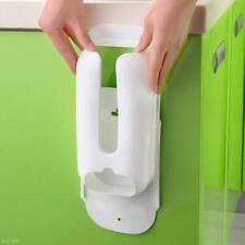 Grocery Bag Holder Organizer Dispenser White Wall Door Plastic Shelf Mount Rack