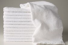 12  NEW WHITE HOTEL B GRADE 100% COTTON RINGSPUN HAND TOWELS 16X27 **
