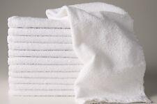 72 (6 dozen) NEW WHITE HOTEL SALON COTTON HAND TOWELS 15X25 BLEACH RESISTANT