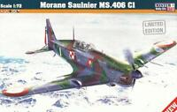 MORANE MS 406 (FRENCH, POLISH, FINNISH AF & LUFTWAFFE MKGS) 1/72 MISTERCRAFT