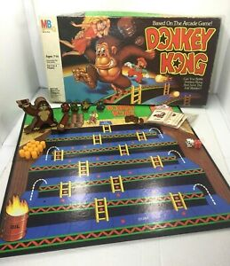 Donkey Kong Board Game Milton Bradley Vintage 1982 Broken Ape