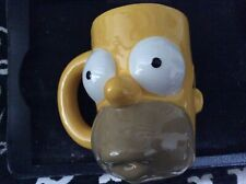 Homer Simpson - 3D face mug/cup 2007. Matt Groening. The Simpsons. Fox Very Rare