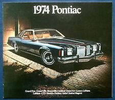Prospekt brochure 1974 Pontiac Firebird * Ventura * Catalina * Bonneville (USA)