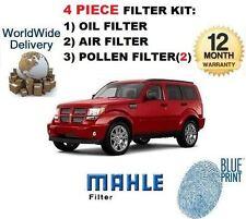 Pour DODGE NITRO 3.7 L V6 2007 & GT 4 piece Service Kit Huile Air Pollen (2) ensemble de filtre